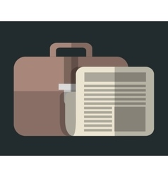 Briefcase and document icon image vector