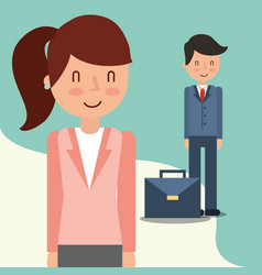 business people characters vector image
