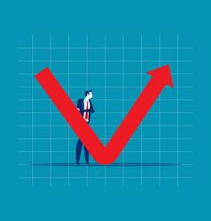 Businessman professional analyse world economic v vector