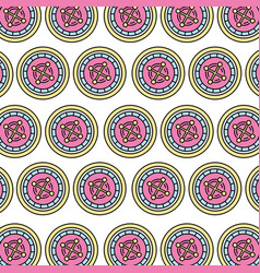 casino chips pattern background vector image