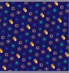 Chanukah pattern with dreidels vector