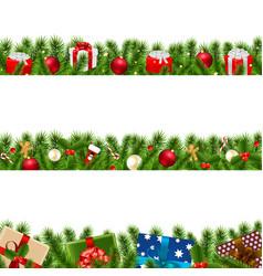 christmas borders big set vector image
