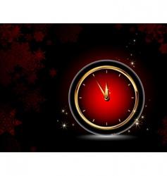 clocks Christmas background vector image