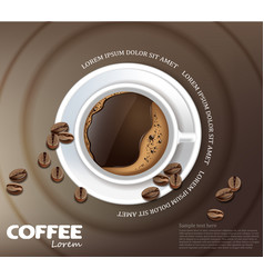 Coffee cup card realistic product vector