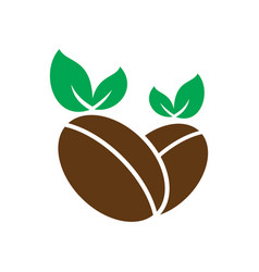 coffee leaf organic logo vector image