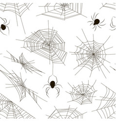 collection of spiders and webs pattern vector image