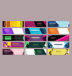 colorful abstract banners geometric abstract vector image