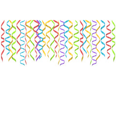 colorful ribbons background vector image