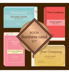 Cute elegant vintage pop up book like business vector