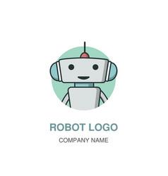 Cute robot logotype vector