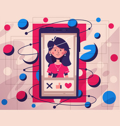 dating application concept choose your soulmate vector image