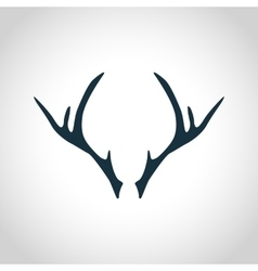 Deer antler silhouette vector