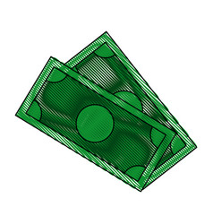 dollar money banknote currency cash icon vector image
