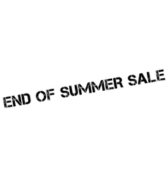 End of summer sale rubber stamp vector