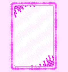 Frame and border with pink volume levels for vector
