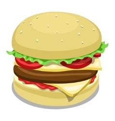 Hamburger color vector image