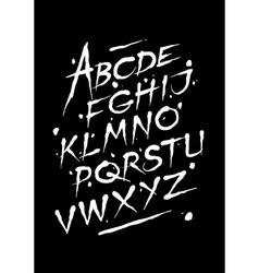 Hand drawn ink font Editable alphabet vector image