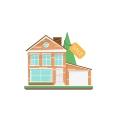 Home for sale real estate sign vector