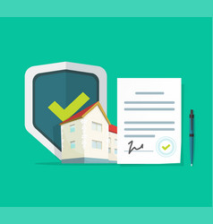 home insurance or real estate protection document vector image