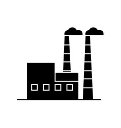 industrial building black icon concept industrial vector image