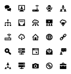 Internet Networking and Communication Icons 4 vector