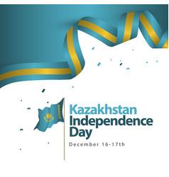 Kazakhstan independence day template design vector