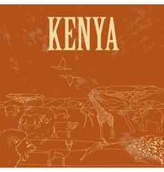Kenya Retro styled image vector image