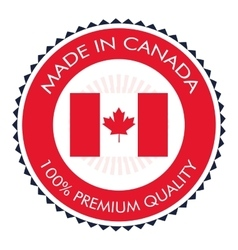 made in canada badge icon vector image