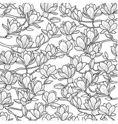 Magnolia spring composition vector