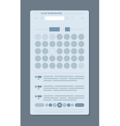 minimal design of user interface vector image