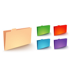 modern icon folder vector image