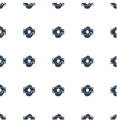 money in hand icon pattern seamless white vector image