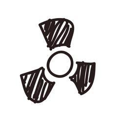 Nuclear symbol doodle vector