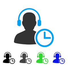 Operator time flat icon vector