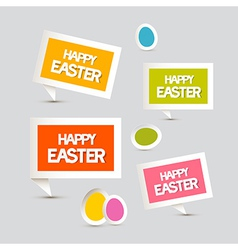 Paper Easter Eggs Labels Tags Set vector image