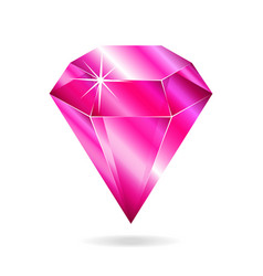 pink gemstone vector image