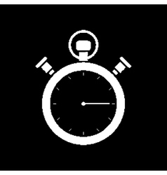 Pixel mechanical stopwatch vector image