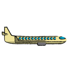 Plane transport business travel vector