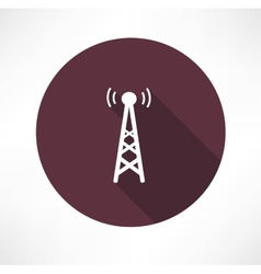 radio tower icon vector image