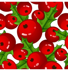Seamless background with berries and vector image
