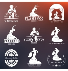 Set Logos and Badges Flamenco vector