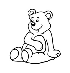 Simple black and white bear vector