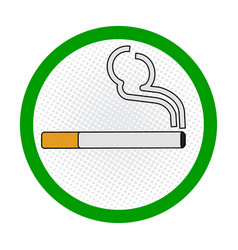 smoking area sign on white background - sign vector image