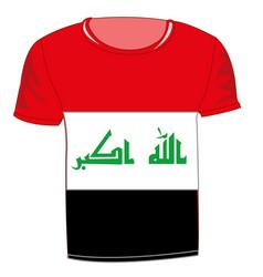 T-shirt flag iraq vector