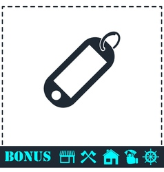 Tag icon flat vector