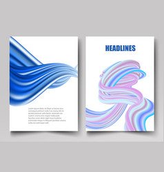 template design for brochure annual report vector image