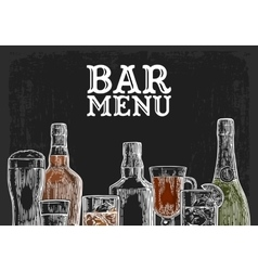 Template for bar menu alcohol drink vector