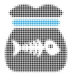 toxic rubbish halftone icon vector image