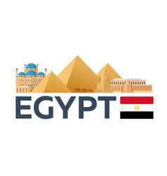 travel to egypt skyline pyramid vector image