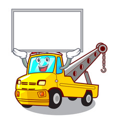 up board cartoon tow truck isolated on rope vector image